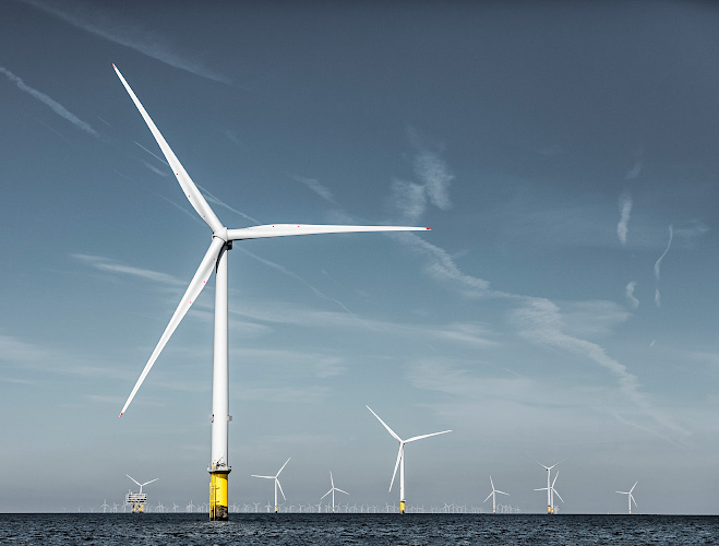 Offshore Windpark Burbo Bank Extension, Liverpool Bay, Great Britain 2018