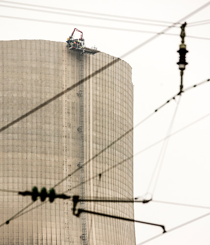 Abriss RWE Atomkraftwerk Muelheim Kaerlich 2018