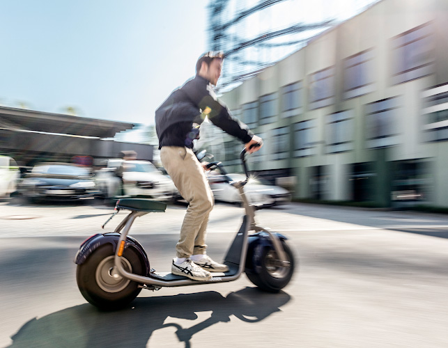 Electric driven Motorscooter at Future Electric Mobility Summit Berlin 2019