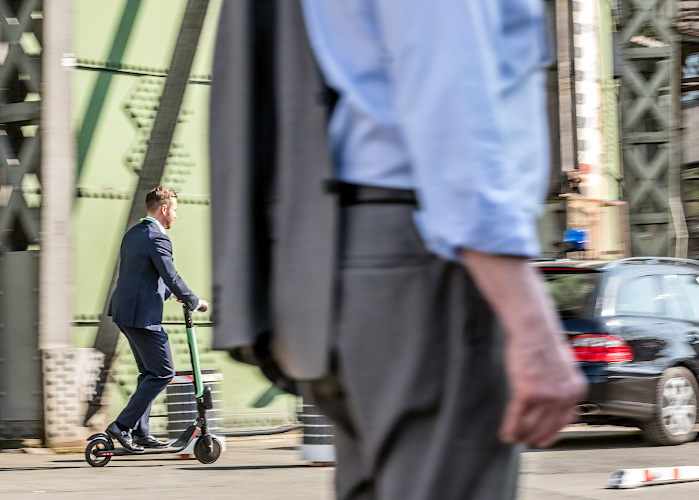Electric driven scooter at Future Electric Mobility Summit Berlin 2019