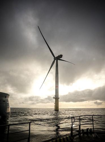 Sandbank Offshore Windfarm Deutsch-dänische Nordsee 2018