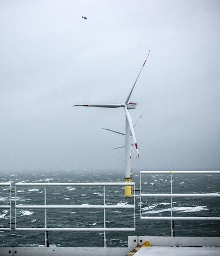 DanTysk Offshore Windfarm. Deutsch-dänische Nordsee 2018