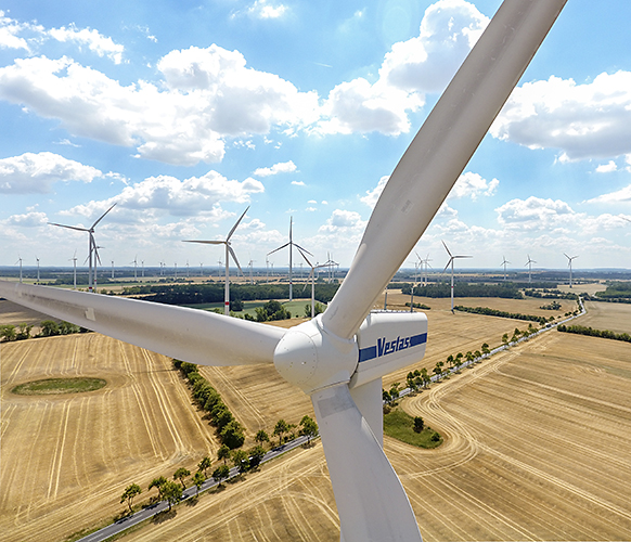 Windpark in Windfeld Nauener Platte 2018