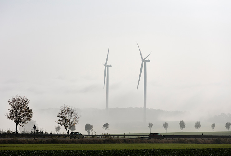 IKEA Windpark im Morgennebel Hambuch/Zettingen 2018