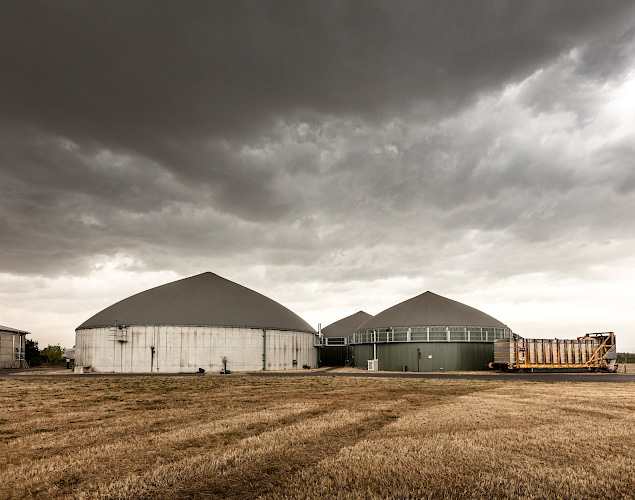 Seydaland Biogasanlage mit 600 KW thermischer Leistung. Elster an der Elbe 2018