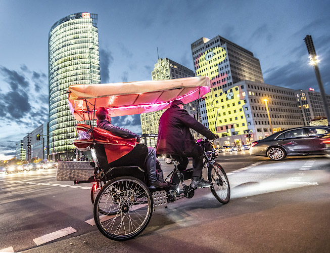 Elektrische Fahrradriksha Berlin 2019