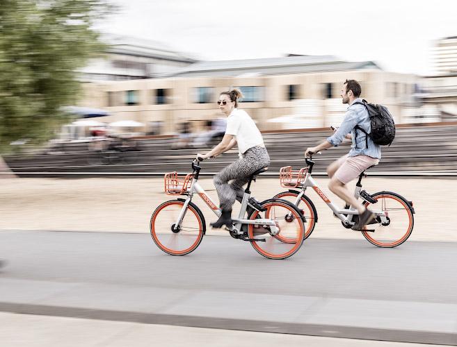Electric Bikesharing Park am Gleisdreieck Berlin 2019