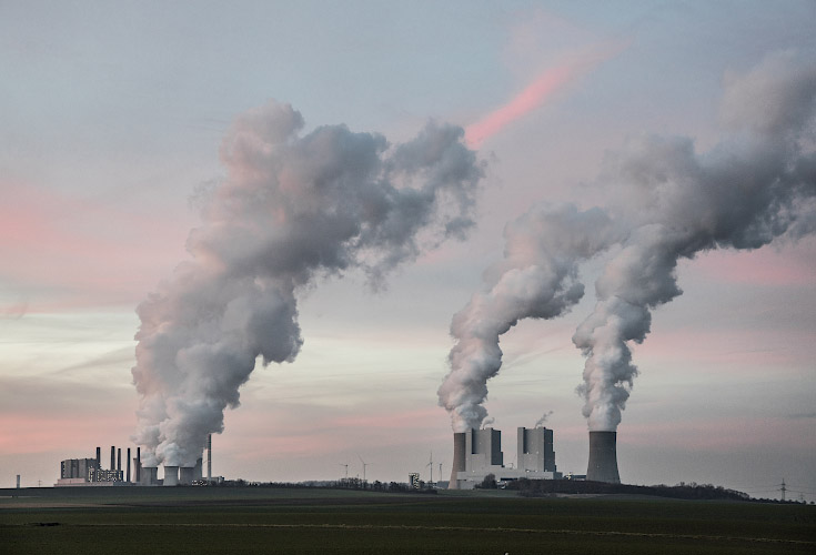 RWE POWER AG Kraftwerk Neurath. Rheinisches Braunkohlerevier 2019