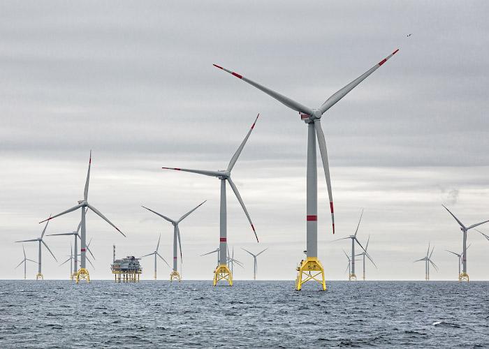 Offshore Windpark Wikinger, Turbine Adwen 5.135. Ostsee, Baltisches Meer 2019