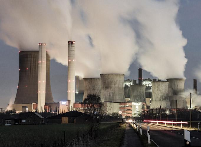 RWE POWER AG Kraftwerk Niederaussem. Rheinisches Braunkohlerevier 2019