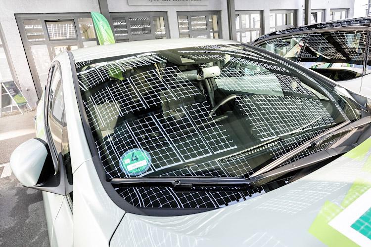 EUREF CAMPUS - Reallabor der Energiewende. Ladestation fuer Elektrofahrzeuge. Berlin 2019