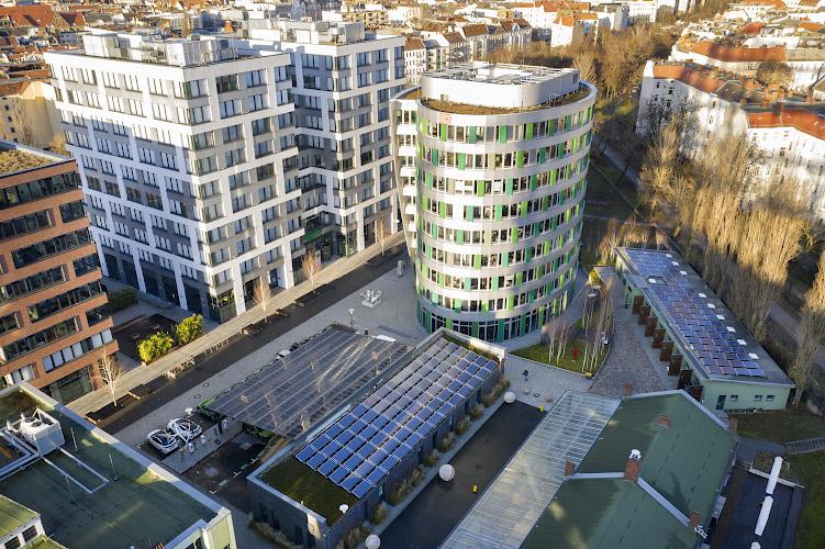 Gelaende EUREF CAMPUS - Reallabor der Energiewende. Berlin 2019