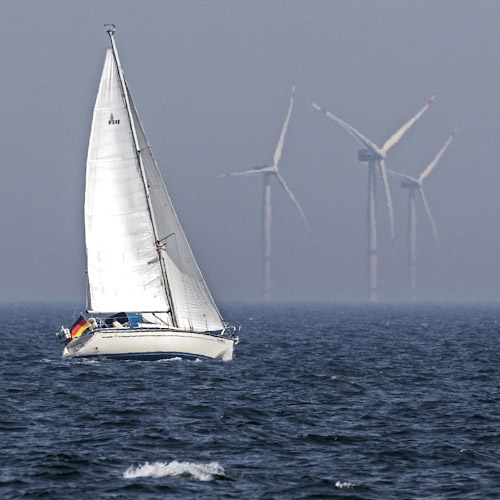 Offshore Windpark Arkona Ostsee Baltisches Meer 2019
